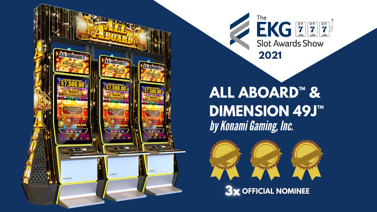 Eilers Krejcik EGK Slot Awards Show Konami Gaming, Inc. All Aboard DIMENSION 49J tw