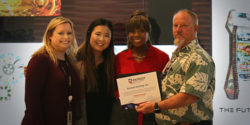 Konami Gaming Inc. Veterans Day Las Vegas Careers Patriot Employer Program